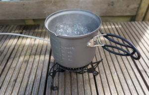 Optimus Vega Wasser kochen