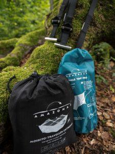 Amazonas Moskito Traveller Extrem, Amazonas Jungle Tent Pro und Amazonas T-Strap