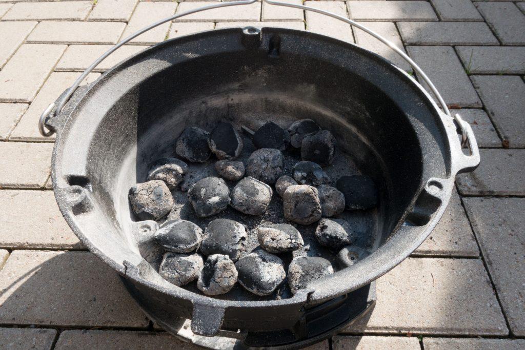 Kohle vorbereiten